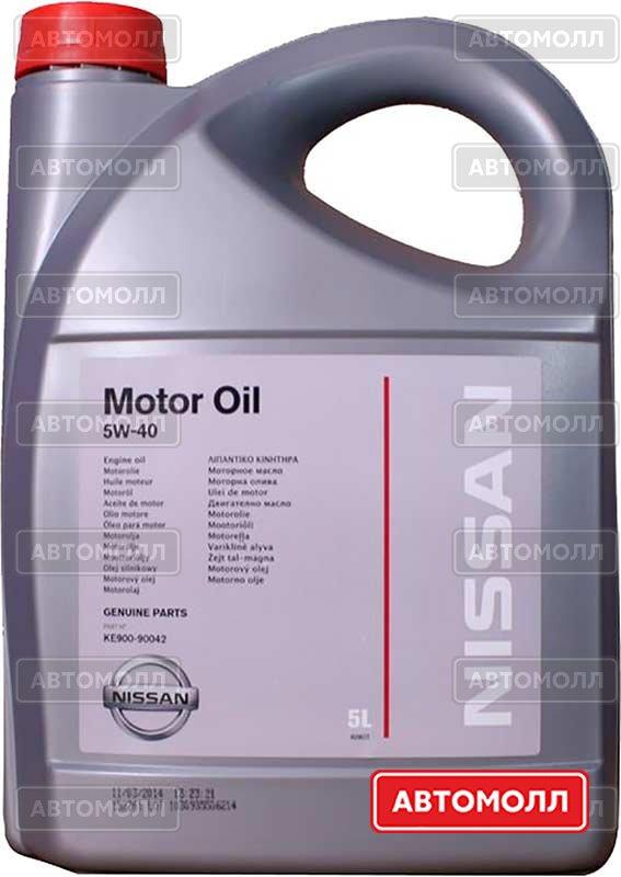 Моторное масло Nissan Motor Oil 5W-40 5W-40 5L изображение #1