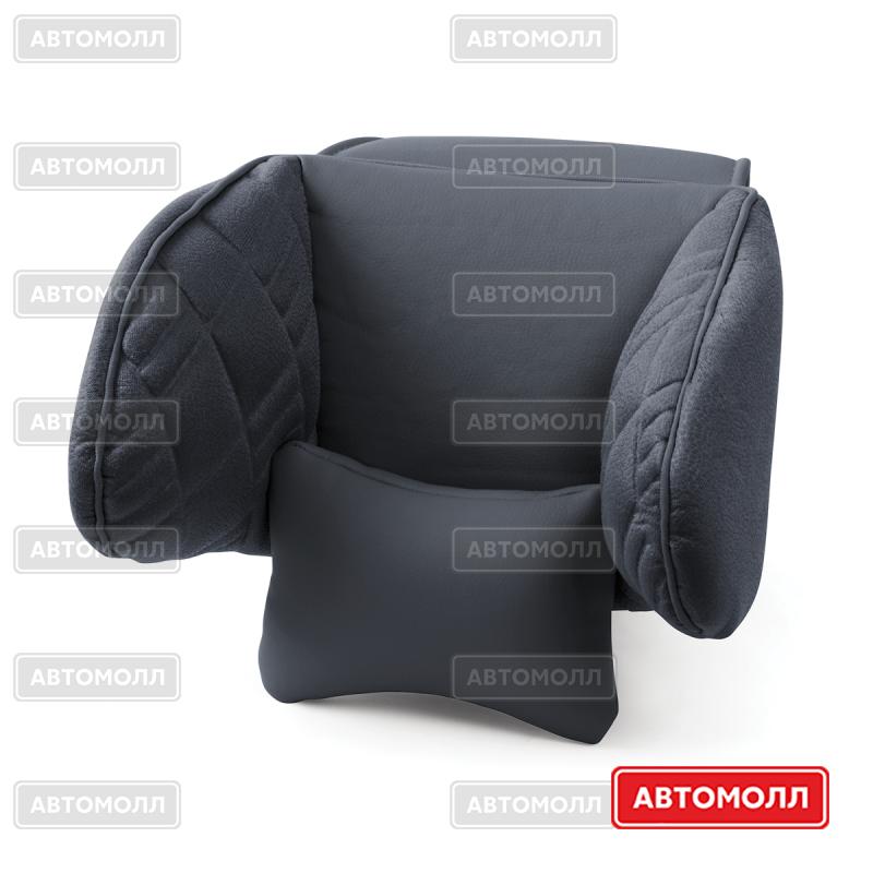 Подушка для шеи / затылка Autoprofi COMFORT COM-0250HR BK/BK изображение #1