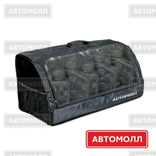 Органайзер Autoprofi Органайзер в багажник TRAVEL, брезентовый, с прозрачным клапаном, 70х32х30см, чёрный, 1/5 ORG-35 BK изображение #1