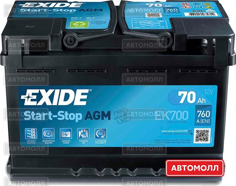 Аккумуляторы EXIDE Start-Stop AGM изображение #1